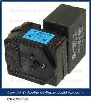 ge fridge capacitor appliance parts liquidator refrigerator compressor relay capacitor w10613606