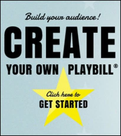 Playbill Launches Playbillvip Com First Ever Do It Yourself Playbill Playbill Playbill Template