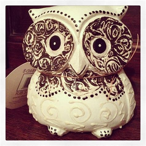 shabby chic owl decoration