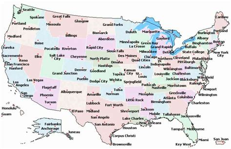 map of cities map of u s cities map travel holidaymapq