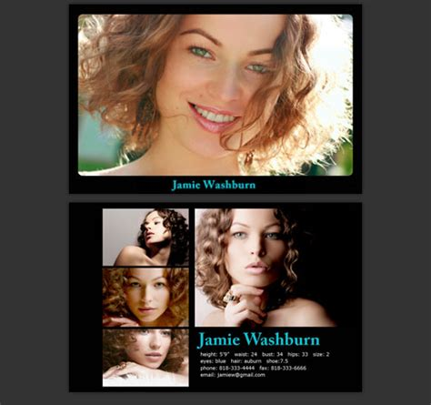 how to make a comp card for free images for comp card template photoshop free image search