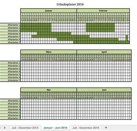 Wochenplan Kalender 2016 Urlaubsplaner 2016 Excel Vorlagen F 252 R Jeden Zweck