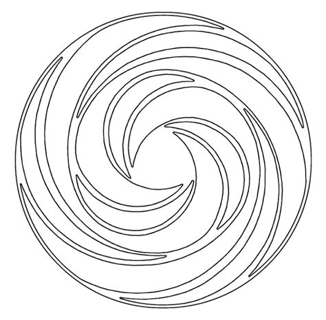 free circle swirl coloring pages