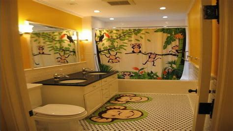 monkey bathroom decor ideas design d on bathroom kids wall