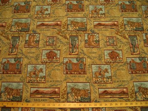 Western Upholstery Fabric by Regal Badlands Desert South Western Tapestry