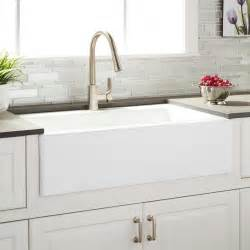 sink in the kitchen 33 quot almeria cast iron farmhouse kitchen sink kitchen