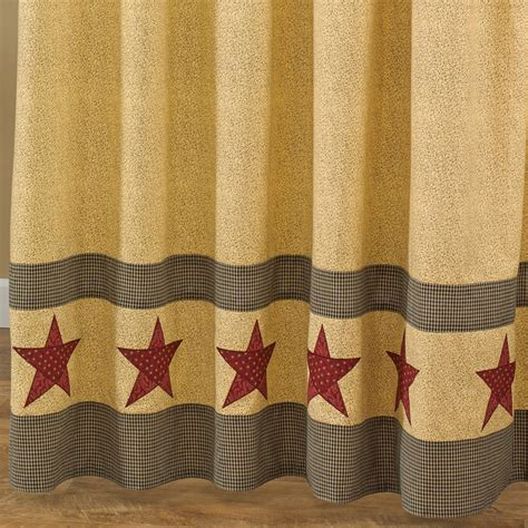 country shower curtain country bath decor primitive home decors