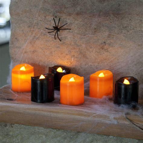 high quality tea lights set of six halloween battery led tea lights by lights4fun