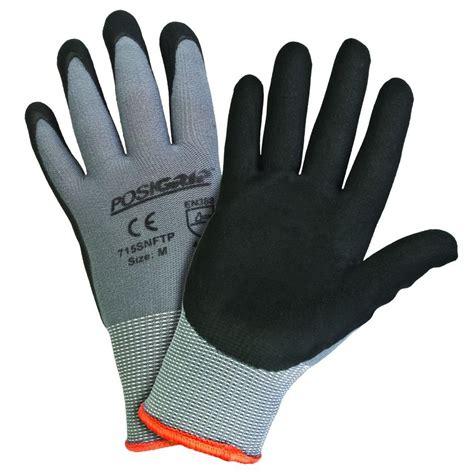 west chester black foam nitrile coated large gloves 12