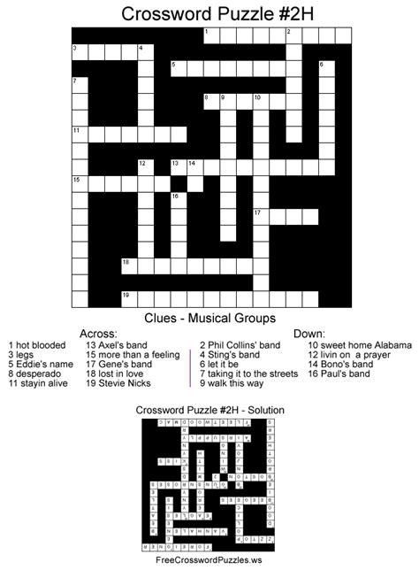 Detox Say Crossword by Crossword Puzzles Printable