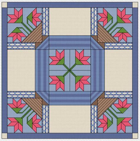 Cross Stitch Quilt Block Patterns by Cross Stitch Pattern Quilt Block Basket Basket