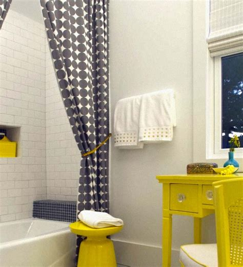 grey white yellow bathroom yellow grey