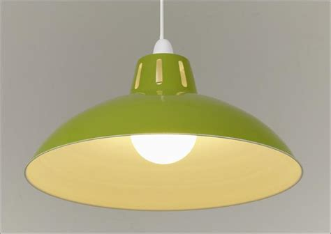 Green Light Shades Ceiling Retro Large Metal Coolie Glossy Lshade Ceiling Pendant Modern Light Fitting Ebay