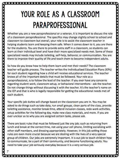 btse paraprofessional manual the autism helper