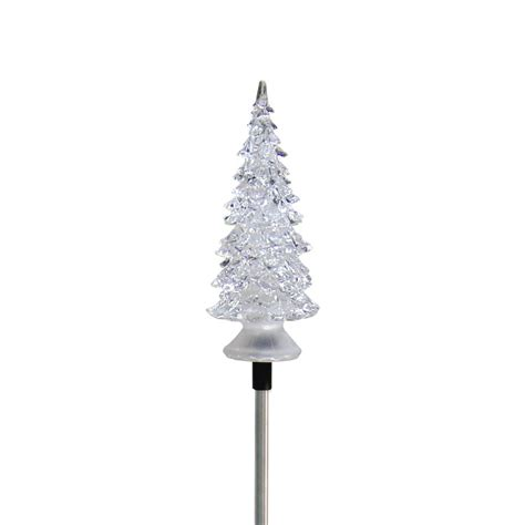 16 in solar powered christmas tree for cematery tree solar garden stake garden and pond depot