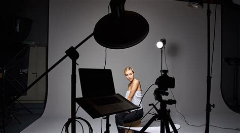 photography set ideas four light setup using only grids for studio portrait