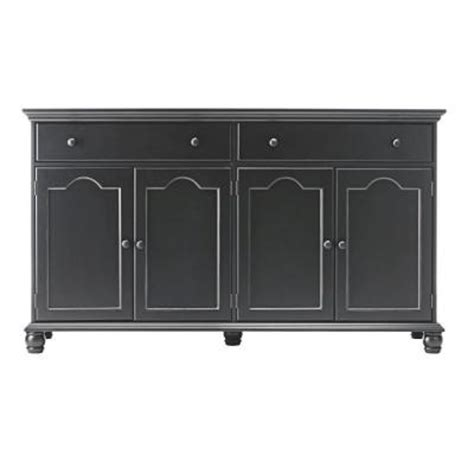 Home Depot Buffet Ls by Home Decorators Collection Harwick 2 Drawer Black Buffet