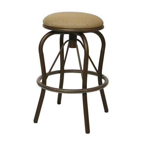 outside bar stools swivel bushnell 30 quot outdoor backless swivel bar stool qlbs010239905