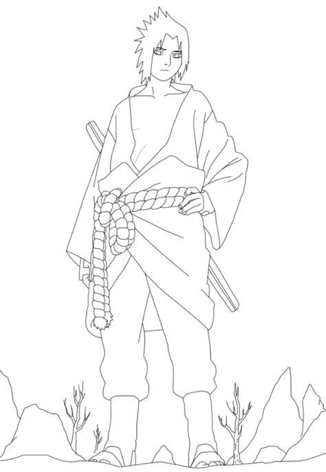 Mewarnai gambar uchiha sasuke yang keren saat beraksi
