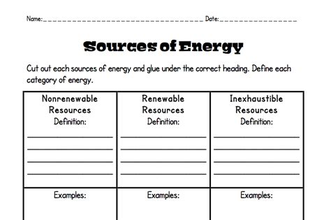 Forms Of Energy Worksheet by 6th Grade Science Forms Of Energy Worksheet Learning