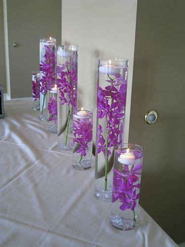 silver and violet wedding centerpieces ideas purple