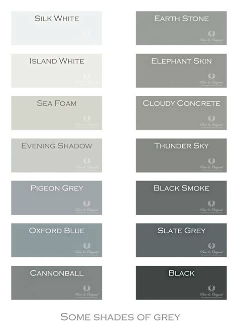 grey color names shades of grey color names house beautiful house beautiful