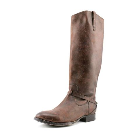 frye frye lindsay plate leather brown knee high boot