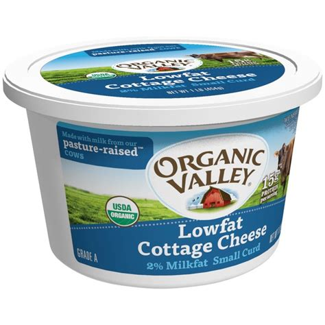 organic cottage cheese organic valley lowfat small curd 2 milkfat cottage cheese