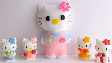 how to make hello kitty soft toy quick and easy tutorial