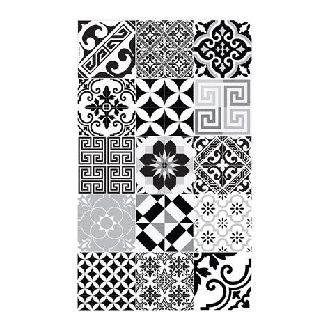Beija Vinyl Floor Runner - buy beija flor eclectic vinyl floor mat black white