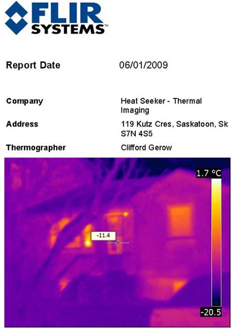thermal imaging report template thermal imaging reports sle