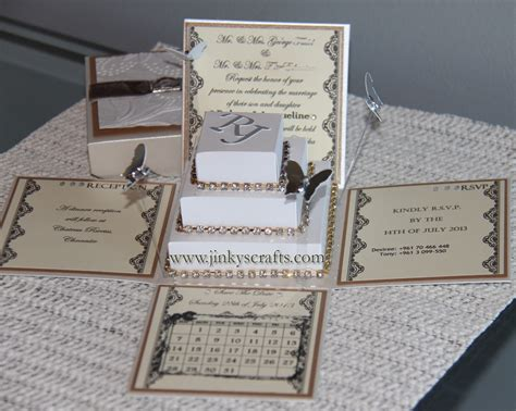 lace exploding box wedding invitations w square cake