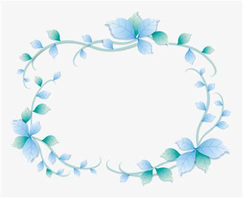 Blus Vinzo blue flower frame blue vine vector png and vector for free
