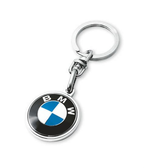 bmw logo genuine metal key ring key chain keyfob