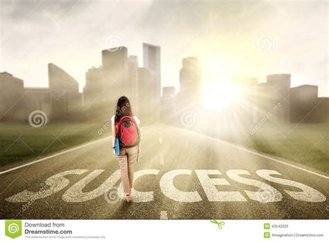 Is Walk On student walking on the success way 1 stock image image