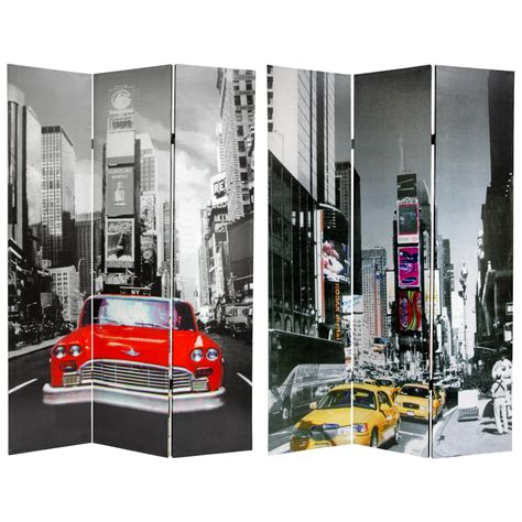 New York Room Divider 6 Ft New York City Taxi Room Divider Roomdividers
