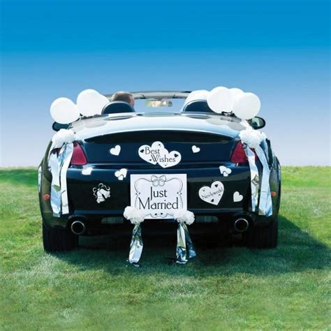 Wedding Car Decoration Kit by Auto Just Married Wedding Car Decoration Kit 2175483