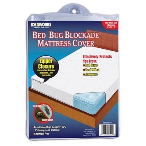 Bed Bug Cover by Ideaworks Bed Bug King Blockade Mattress