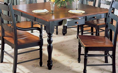 dining table with drawers homelegance sedgefield dining table with drawers and