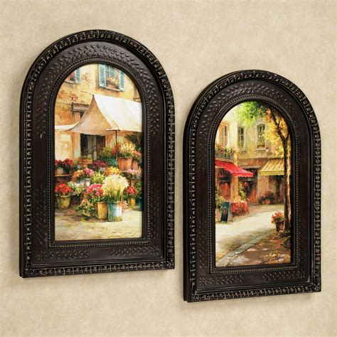 wall decor framed the flower market arched framed wall set