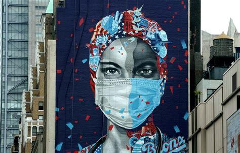 murals  graffiti salute front  coronavirus