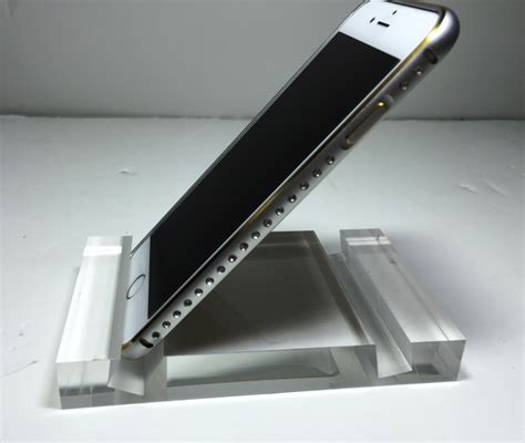 acrylic ipad stand iphone ipad android phone tablet holder stand thick