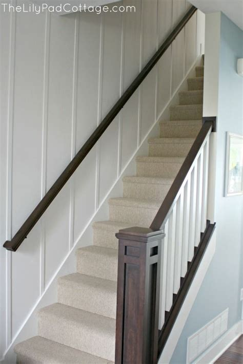 stair banisters new entry decor and planked wall stains planked walls