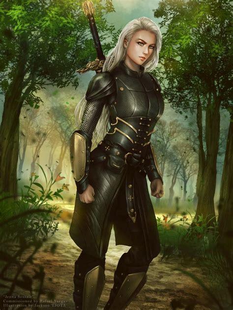 Arrow True Armor commission sessair warrior by tjota fighter ranger half leather