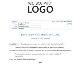 template for press release template press release