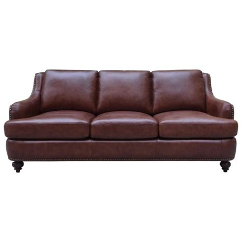 Nailhead Leather Sofa Elements International Napoli Leather Sofa With Nailhead Trim Royal Furniture Sofas