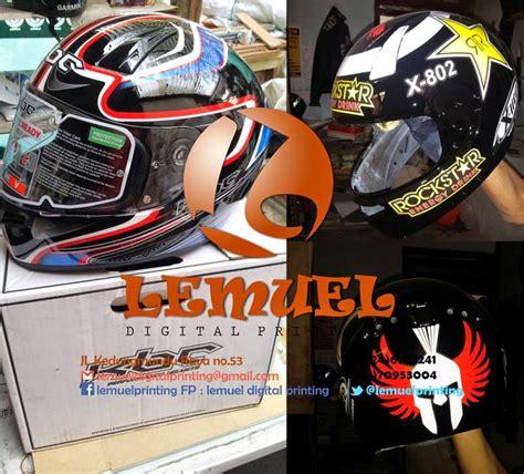 Sticker Helm Semarang by Tempat Yang Asyik Untuk Memodifikasi Striping Motor Para