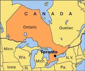 where is toronto canada on the world map toronto location encyclopedia children s