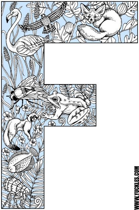 coloring pages with letter f letter f coloring page by yuckles