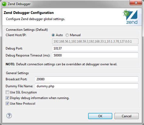configure xp zend studio installed debuggers preferences zend studio 13 6